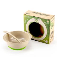 绿色环保 天然稻壳纤维 稻壳卡通碗勺套装