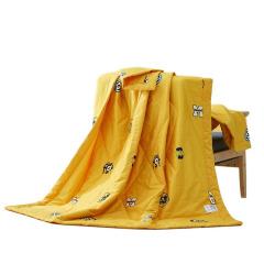 神偷奶爸小黄人全棉舒适被夏凉被 轻薄凉爽空调被 公司送员工什么礼物好