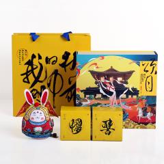【颂月】中秋兔儿爷布玩偶挂饰+月饼组合礼盒 文创中秋礼 创意中秋礼品 文化礼品