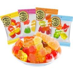 【京东伙伴计划—仅限积分兑换】徐福记 果汁橡皮糖468g(约40小包)