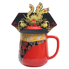 故宫皇后凤冠杯礼盒装 中国风创意陶瓷杯 凤冠马克杯370ML 送国外客户礼品 中国特色礼品