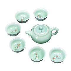 【杯中有鱼】西施壶7头茶具礼盒套装定制 创意茶具文化礼品