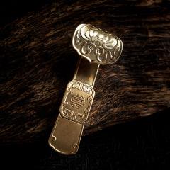 造府(ZAO FU)纯铜如意U盘 纯手工中国风铜如意 复古u盘 创意文化礼品(16G)