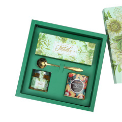 茉莉花歐式禮盒 蜂蜜+玫瑰花禮盒套裝 活動獎品買什么好