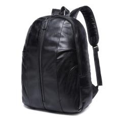 人气爆款PU皮男士双肩包 优质男包贝壳型背包学生书包定制 个性背包定制 个人实用性的小礼品 送什么礼品给客户