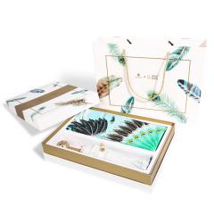 【丝羽】雀翎花球潮流伞+100%真丝丝羽大方巾礼盒套装 客户纪念礼品