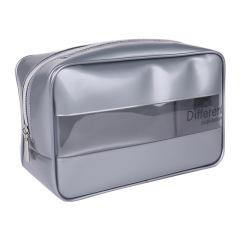 PVC防水洗漱包 大容量旅行收納包 透明拼接立體手拿包 實用禮品