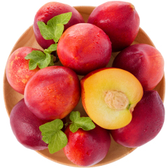 【京东伙伴计划—仅限积分兑换】大连黄肉油桃10-14个 单果65g以上 1kg
