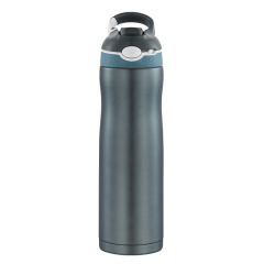600ML不锈钢挂扣式运动保温杯 吸管水壶定制 物美价廉实用的小礼品