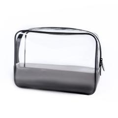 透明PVC化妆包 便携拉链洗漱包 拼接立体防水收纳包 日常实用的礼品