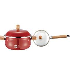 JOHN BOSS(英国)快乐厨房珐琅锅具两件套汤锅奶锅套装 公司年会奖品发什么