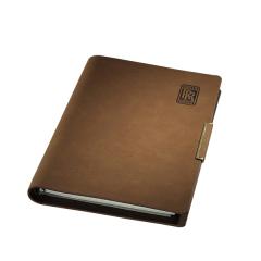 16K平装活页记事本 个性化本册 进口变色PU笔记本 商务记事本定制 办公礼品定制 客户小礼物定制