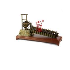 复古创意龙骨水车农具模型 文化礼品 教学模型
