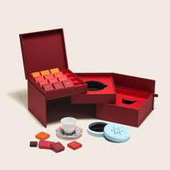 爱马仕Hermès旗下 SHANG XIA 霁月香茗礼盒装 一茶一香一杯三层礼盒  企业营销小礼品