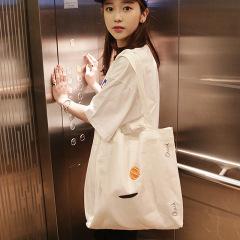 韩版 CheckCheck简约刺绣帆布袋 有内袋 带拉链 30多元商务礼品