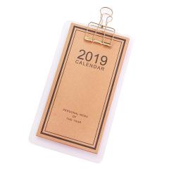 创意便携夹板2019日历 年度个人菜单式便签板 地产创意礼品