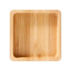 【冬】创意原竹办公桌面便签盒便利贴收纳 中秋节送什么礼品好 促销活动赠品方案办公收纳