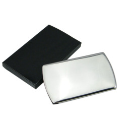 全不锈钢制拉丝名片盒 后现代设计金属名片夹 信用卡盒 送客户实用小礼品