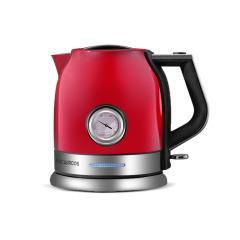 【MACAIIROOS】复古红家用电水壶带温度计  年会家电礼品推荐