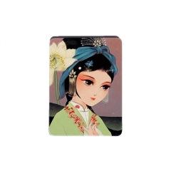 【西施浣纱-长方】戏曲折叠化妆镜 便携设计 外事礼品