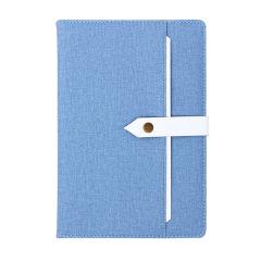 小清新商务系列笔记本 A5仿皮布纹可定制记事本 创意展会会议礼品