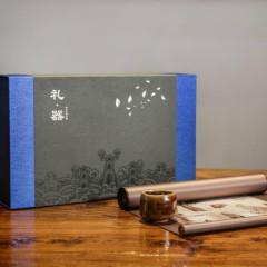 【海上丝绸】海上丝绸之路礼器套装 烧杯+丝绸卷轴 会议纪念商务礼品