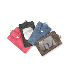 进口PU皮复古设计纯色卡包卡套 办公室实用小礼品