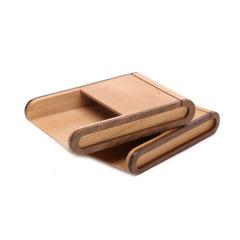 木質創意名片收納盒 簡約設計 商務活動小禮品