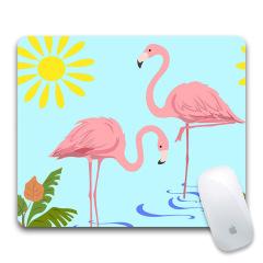 【火烈鸟】时尚创意橡胶鼠标垫 可定制广告礼品 活动礼品