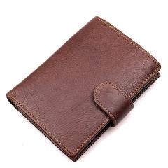 頭層牛皮錢包 多卡位真皮男式錢包 RFID防掃描屏蔽復古錢包 高級禮品定制