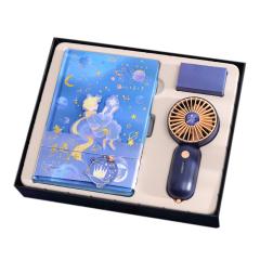 【小王子】夏季小风扇+笔记本套装 夏季送什么礼品好