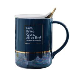 北歐INS風油彩珍珠彩虹杯 陶瓷杯 活動送什么禮品吸引人
