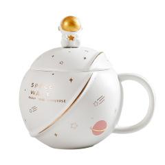 ins宇航员星球陶瓷杯 办公室咖啡茶水马克杯 公司活动奖励