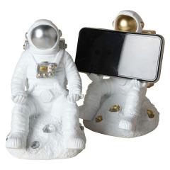 宇航员手机支架 创意树脂北欧风桌面摆件ipad支架 中秋节员工福利方案
