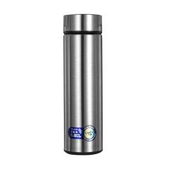304不锈钢智能镜面简约保温杯 商务直身杯450ML 商务礼品定制