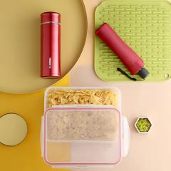 菲驰(VENES)保温杯+铅笔伞+保鲜盒鸿运家庭套装三件套 银行礼品订制