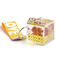 懒懒熊液体流沙漂浮钥匙扣 员工活动小礼品