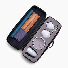 【品未】功夫陶瓷茶具套装 便捷旅行茶具 每年周年庆礼品做什么好