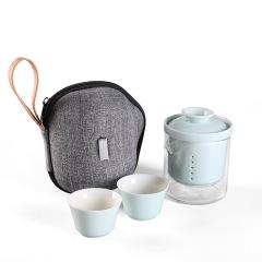 【入夏】便捷旅行茶具套装 一壶两杯 企业礼品定制什么好