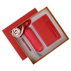 女士商务笔记本礼盒 笔记本+触控签字笔+雨伞+丝巾 公司女神节礼品