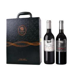 【黑色老爷车双支皮盒装】春节礼盒套装 皮卢红葡萄酒+拉古红葡萄酒 春节给员工送什么