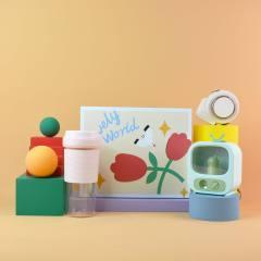 夏季清凉礼盒果汁机+小风扇+加湿器   夏天活动礼品送什么