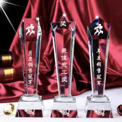 【水晶奖杯】水晶纪念奖座 水晶奖杯 金属奖杯定制 纪念礼品定制
