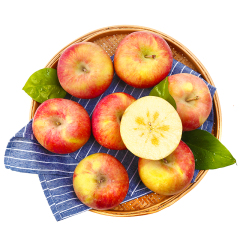 【京东伙伴计划—仅限积分兑换】塞外红 特级新疆阿克苏苹果 冰糖心苹果 果径80-85mm 净重5kg
