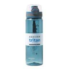 Tritan便携泡茶杯 弹盖塑料水杯 带茶漏健身运动杯400ml/550ml 实用小礼品
