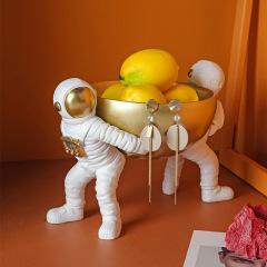 创意宇航员水果盘 太空人家居杂物收纳 办公收纳摆件 培训小礼品