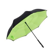 綠色反向傘 創意第三代c型手柄雙層免持式反向傘 長柄傘 公司活動紀念品