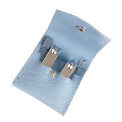皮革指甲刀四件套 时尚牢固易收纳 适配皮革槽位 使用简单方便 精美礼品制作
