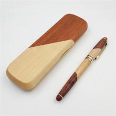 拼接紅木簽字筆套裝(帶筆盒) 教師節禮品 父親節實用禮物