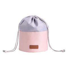 圆筒抽绳化妆包 大容量便携 促销小礼品